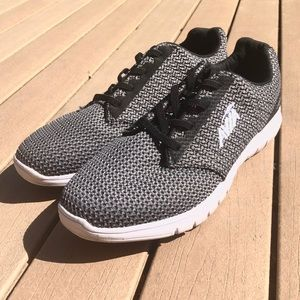 Avia Neutral Black Grey Logo Athletic Shoes